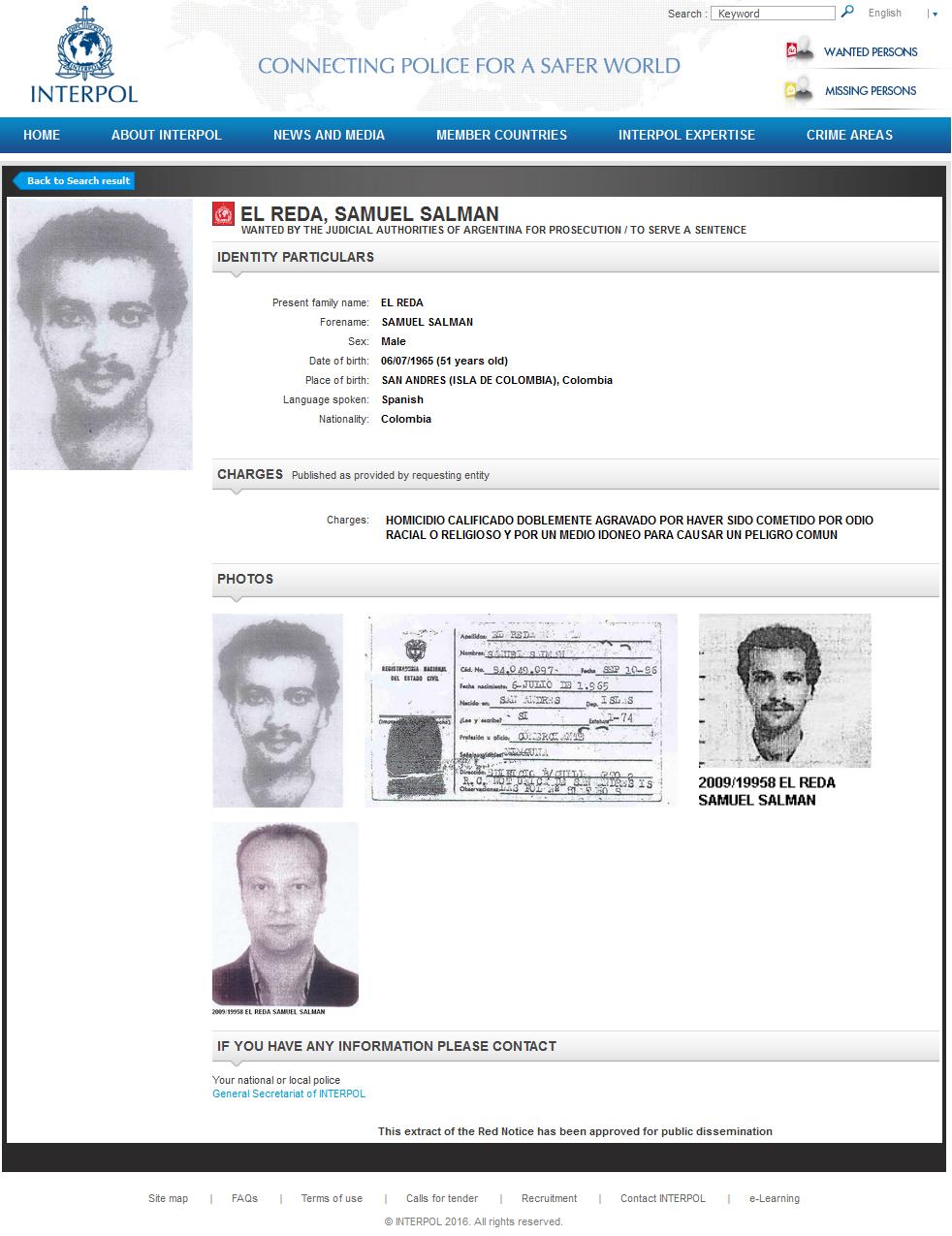AMIA/Atentado. Fiscales aportan información sobre identidad del terrorista conocido como Samuel El Reda
