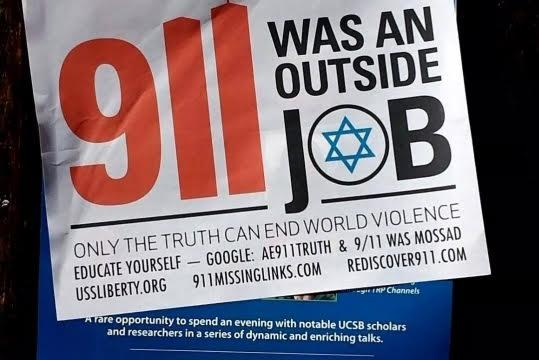 """Antisemitismo. Luego de la conmemoración del 11S, continúan las teorías de conspiración judía de """"falsa bandera"""""""