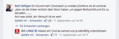 Un partido de izquierda alemán agradeció una propuesta antisemita