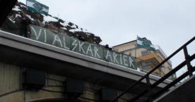 Manifestación antisemita y neonazi en Suecia