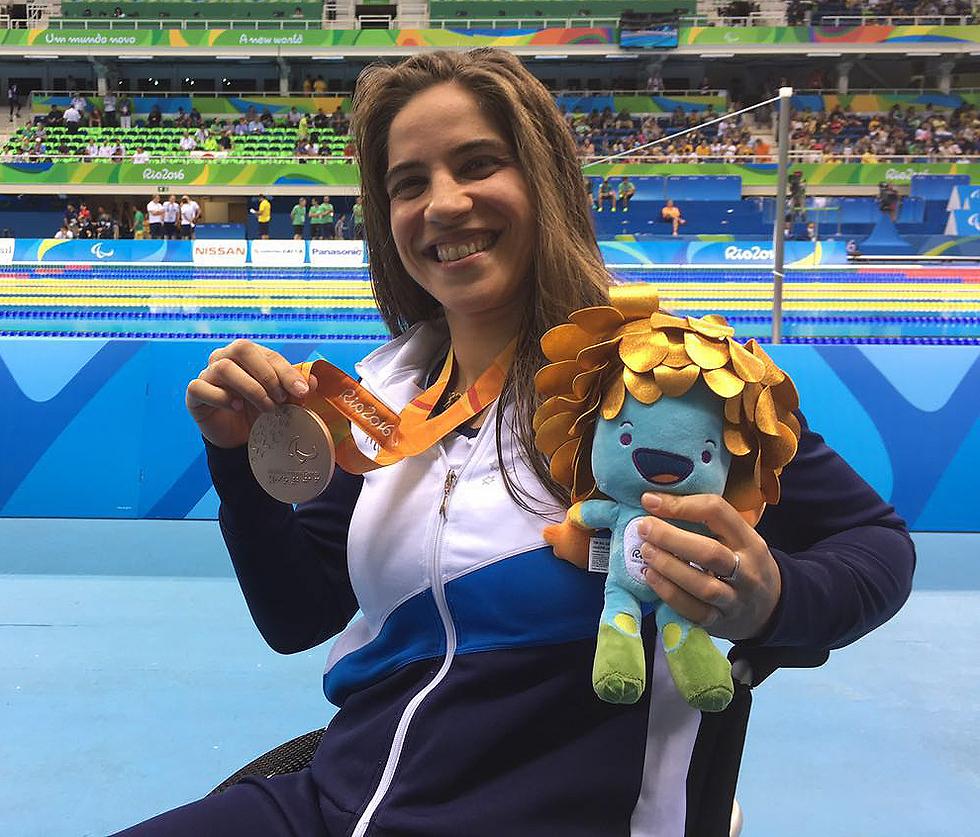 La nadadora israelí Inbal Pezaro ganó el bronce en 200 metros combinados