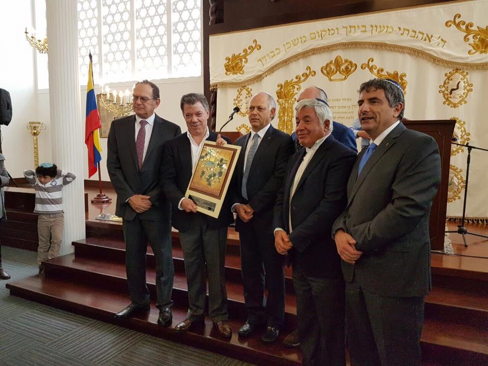 """Nobel. Comunidad judía: """"Es un premio para la sociedad colombiana, para las víctimas del conflicto, para el presidente Santos y enaltece a toda América Latina"""""""