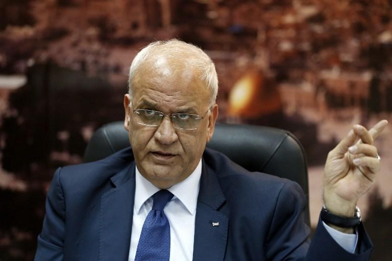 PALESTINIAN-ISRAEL-CONFLICT-PLO-EREKAT