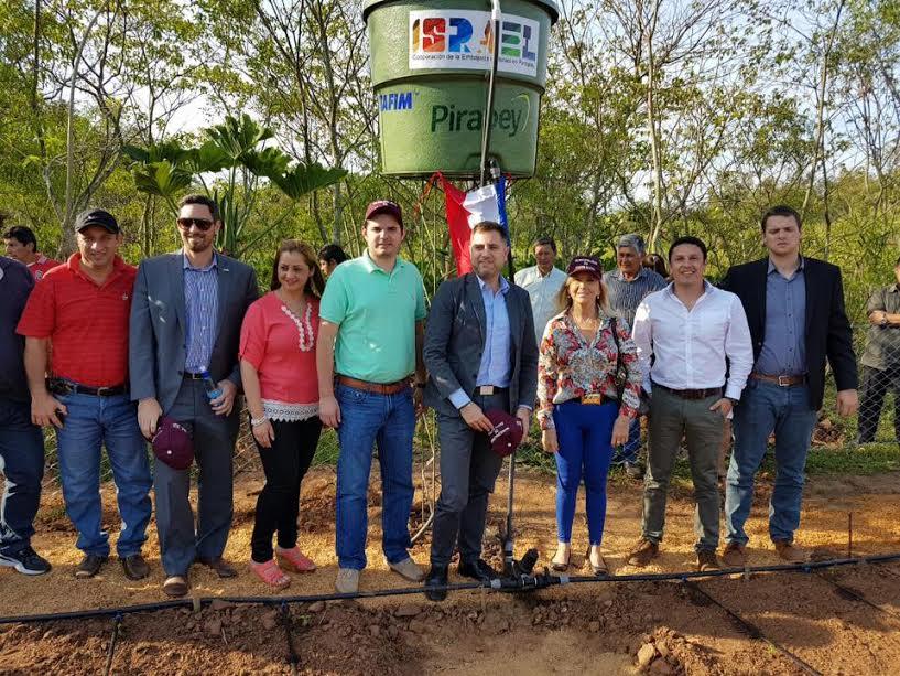 Israel inauguró un sistema de riego por goteo en Paraguay