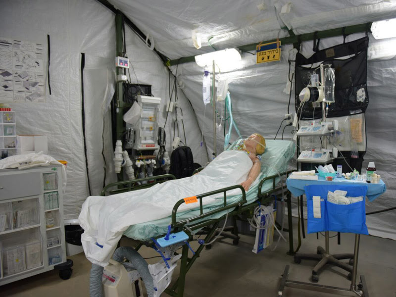 An IDF Medical Corps' field hospital