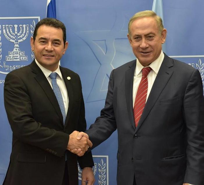 El presidente de Guatemala realiza una visita oficial a Israel y fue recibido por los líderes más importantes del país