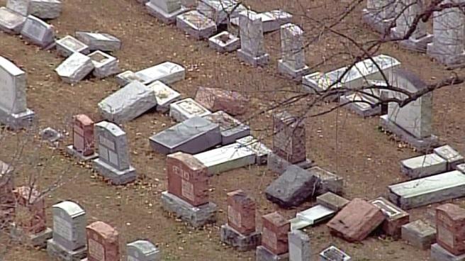 Antisemitismo: grandes destrozos en un cementerio judío de St. Luis