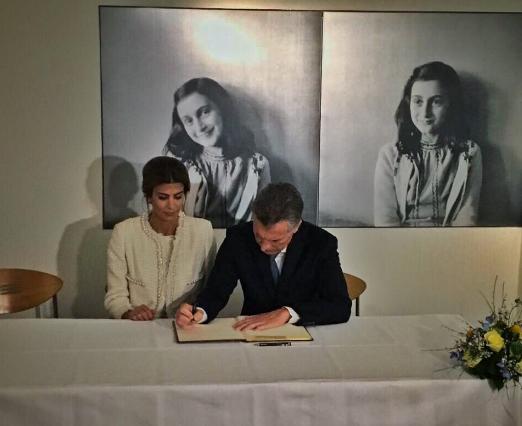 Mauricio Macri visitó la Casa de Ana Frank