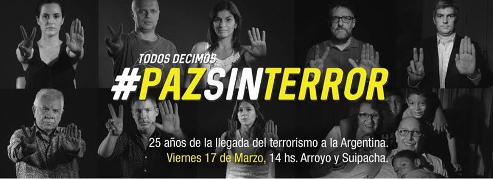 """A 25 años del atentado, la embajada de Israel lanzó su campaña """"Paz sin Terror"""""""