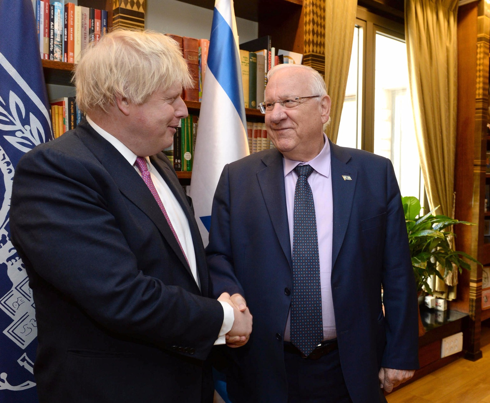 Pres. Rivlin and UK Foreign Secy. Boris Johnson