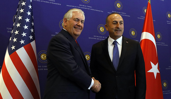 U.S. Secretary of State Tillerson meets with Turkish Foreign Minister Cavusoglu in Ankara