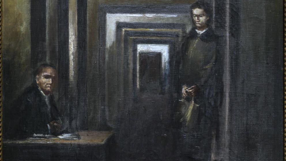 """Una obra pintada por Hitler es exhibida en la muestra """"Museo de la locura"""" de Italia"""