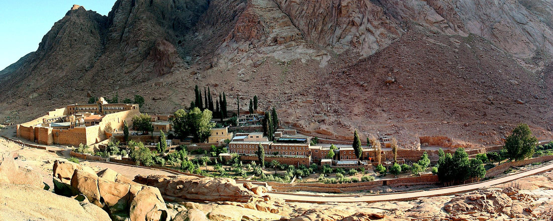FILE PHOTO – A general view of the Saint Catherine's monastery with its living and tourist facility in the Sinai peninsula of Egypt