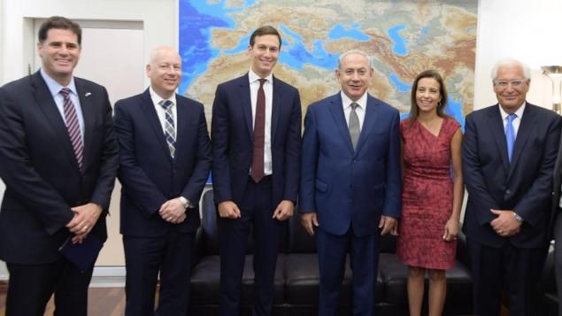 Netanyahu con Kushner y otros enviados EEUU