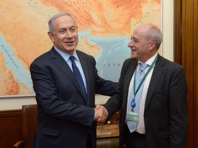 Daniel Berliner, Director de la Agencia AJN con el primer ministro Benjamin Netanyahu