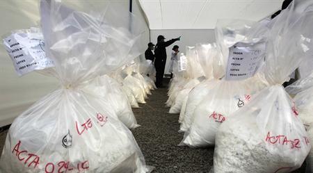 Cocaína incautada