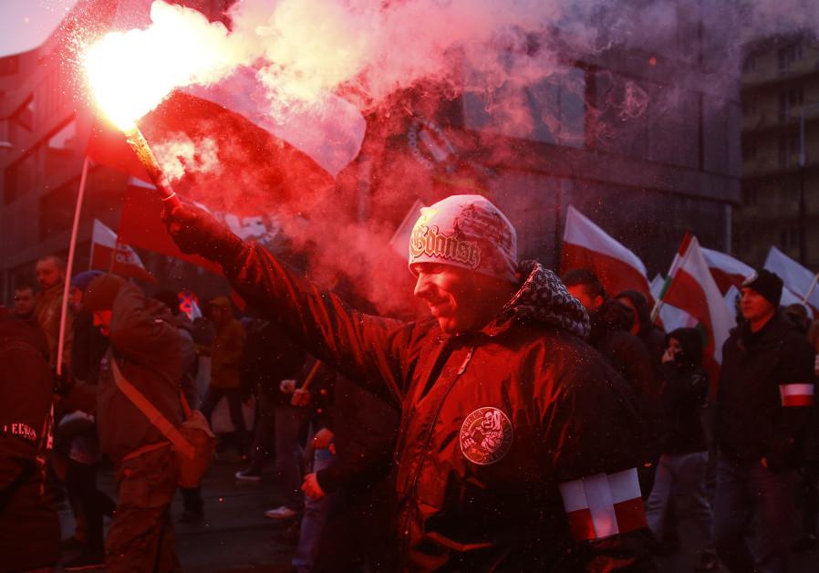 Manifestación ultraderecha Polonia