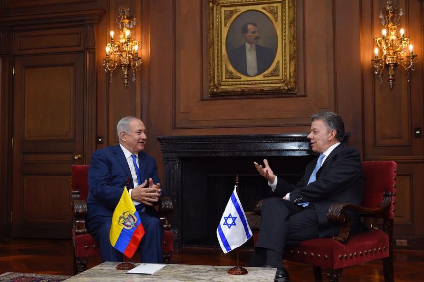 Netanyahu Santos colombia2