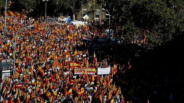 protesta cataluña