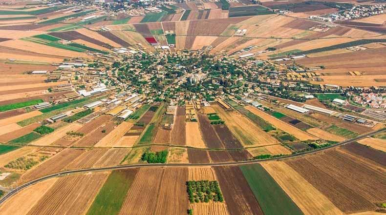 Los pueblos Moshav de Israel