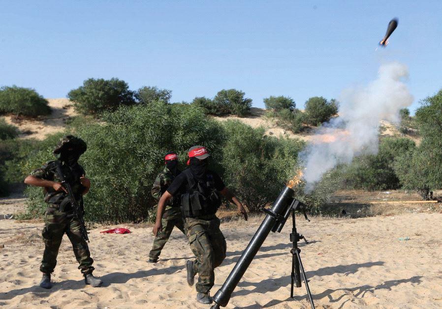 Terroristas disparan mortero