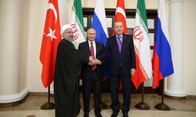 Presidents Erdogan of Turkey, Putin of Russia and Rouhani of Iran meet in Sochi