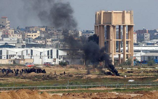 gaza protesta humo