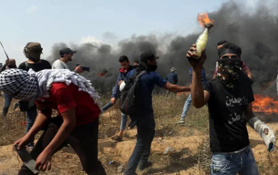 manifestación frontera Gaza