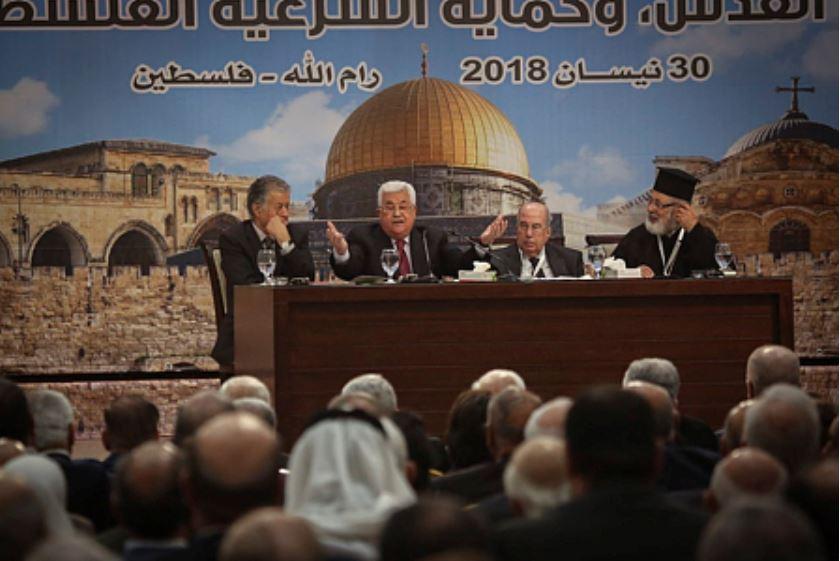 Abu Mazen discursea