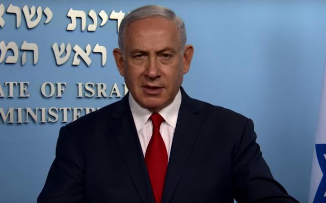 Netanyahu enojado