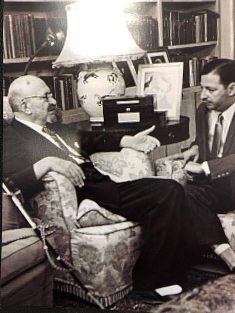 Chaim Weizmann con Manguel