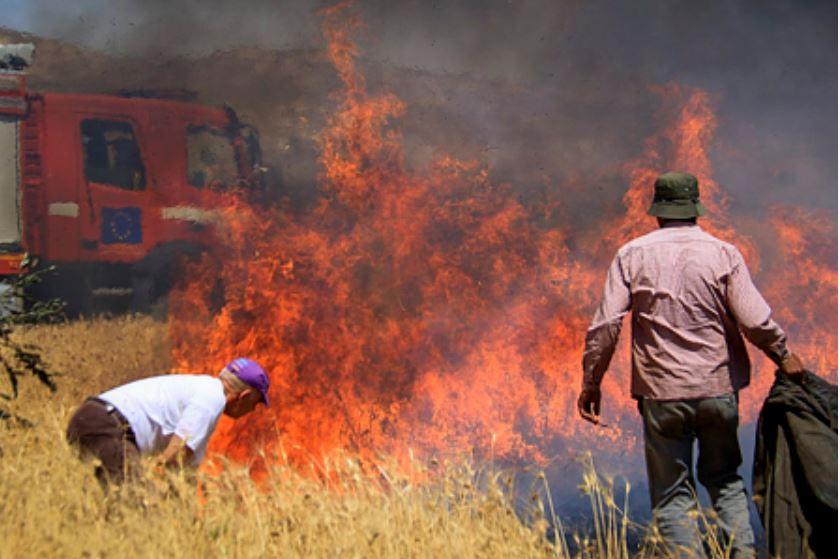 incendio sur de Israel