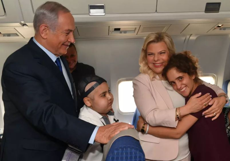 netanyahu sara niños cancer