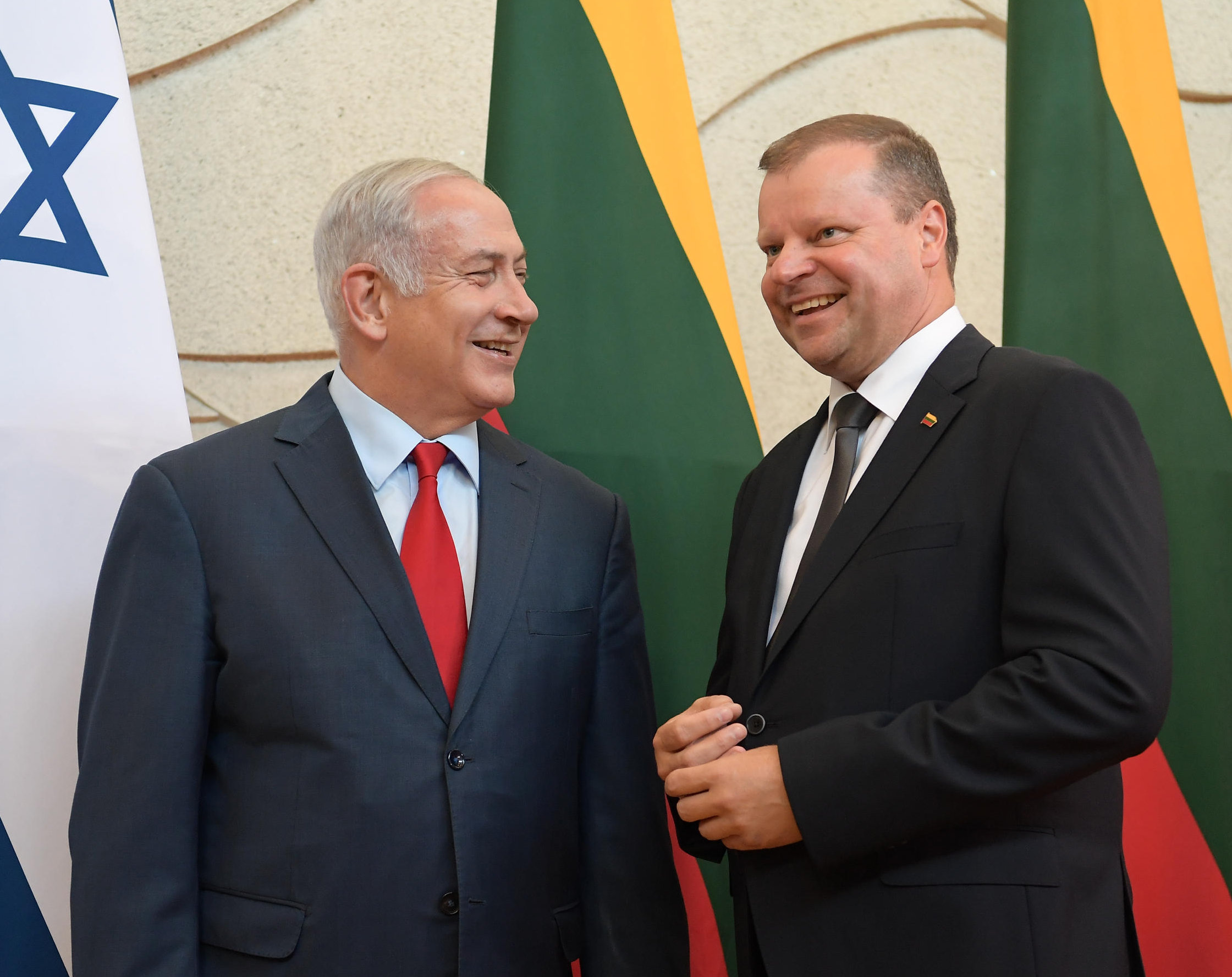 PM Netanyahu & Lithuanian PM Skvernelis1