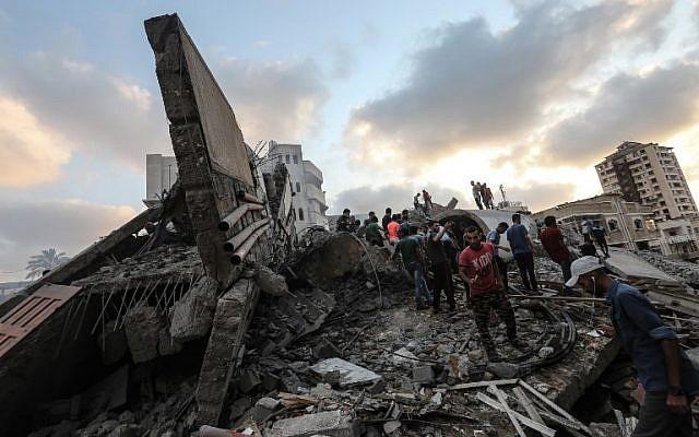 gaza edificio derrumbado