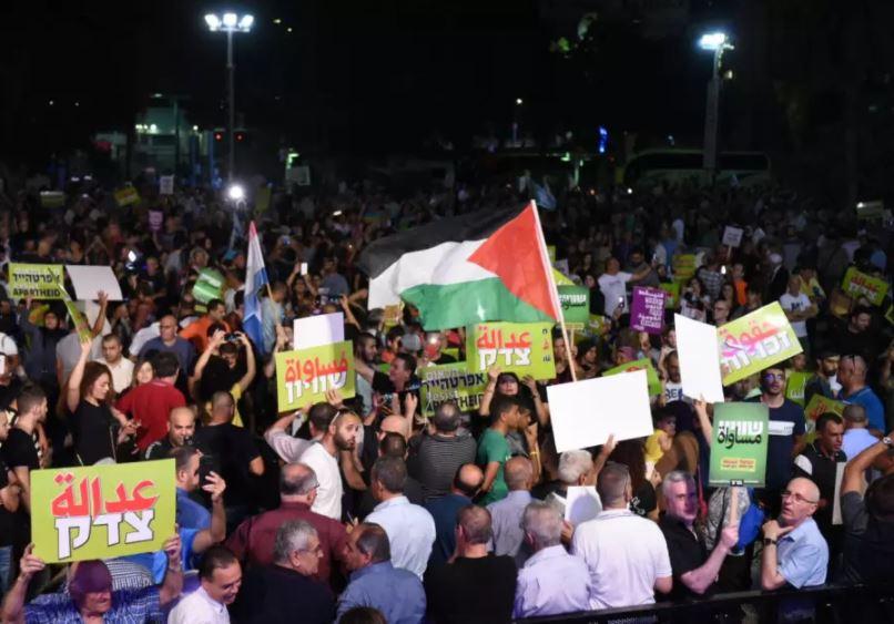 protesta palestinos
