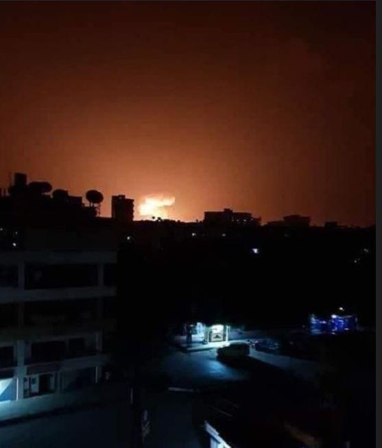 Bombardeo Siria nocturno