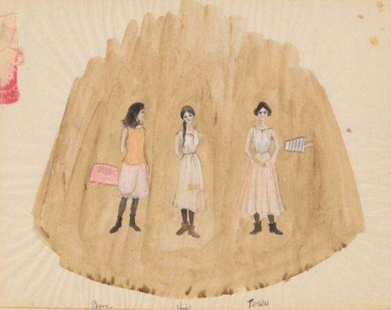 Ropa interior de época para las hijas de Tevye.