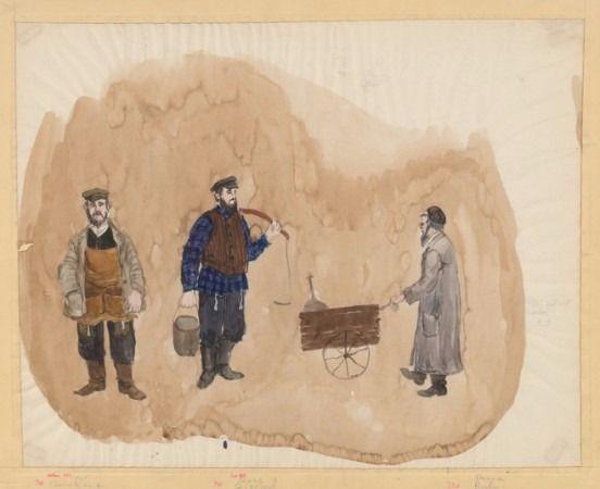 Vestimenta típica de los trabajadores en el Shtetl