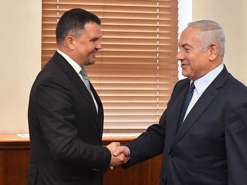 PM Netanyahu with Russian DPM Maxim Akimov