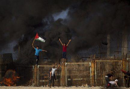 Gaza protesta valla