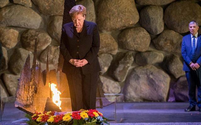 Merkel en Yad Vashem