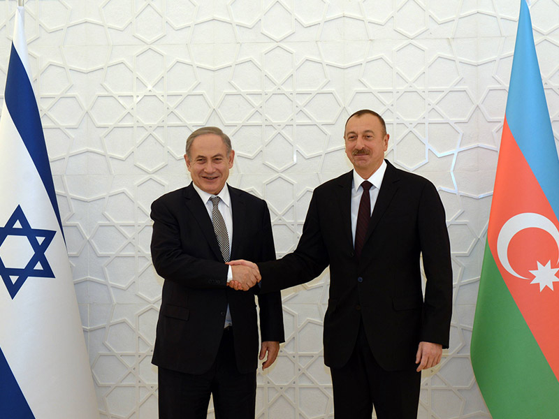 PM Netanyahu with Azerbaijan President Ilham Aliyev