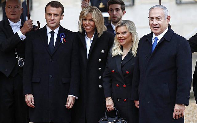 Netanyahu macron 2