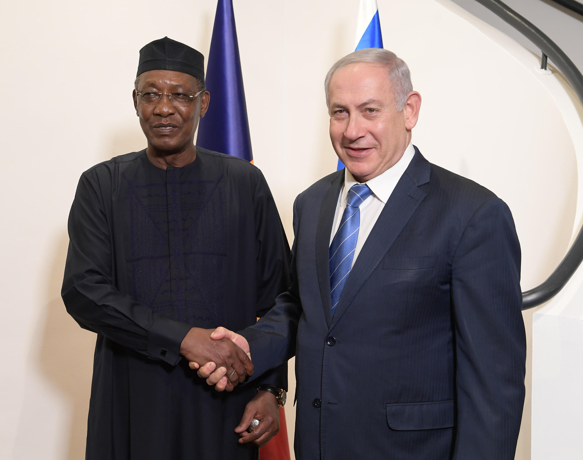 PM Netanyahu & Chad Pres. Deby at the PM's Residence in Jerusalem