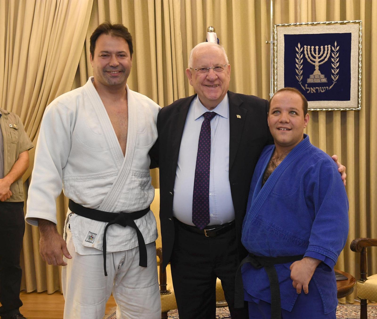 President-Rivlin-with-Arik-Zeevi-and-Special-Olympian-Levav-Barkan-22-November-2018