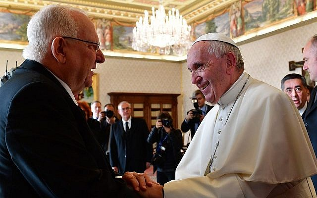 Rivlin Papa Francisco