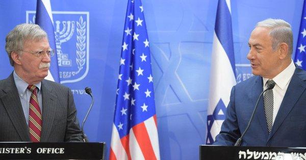 Benjamín Netanyahu y John Bolton