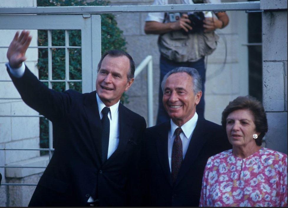 Bush padre Shimon Peres