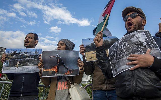 Protestas anti Israel en Túnez